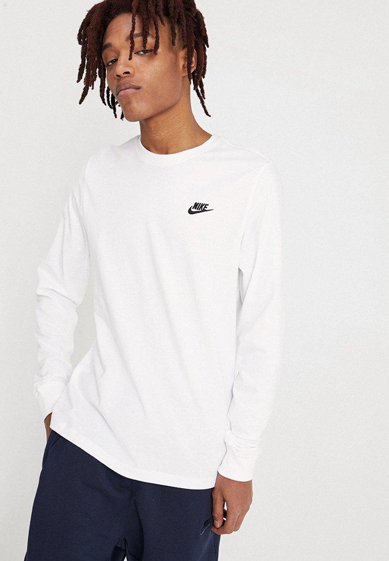 Nike Sportswear - CLUB TEE  - Long sleeved top - white/black