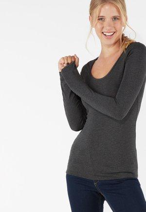 LONG SLEEVE - Long sleeved top - dark grey mel