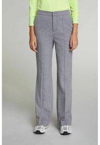 Oui - Trousers - grey melange - 0