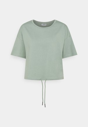 NMDURU LOOSE STRING - Print T-shirt - slate gray