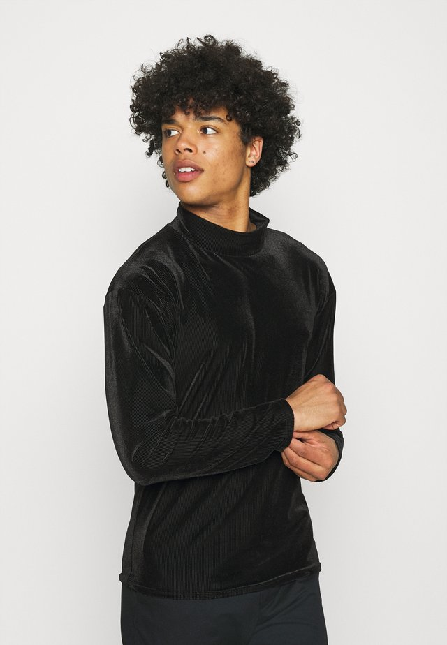MOCK NECK LONGSLEEVE  - Bluza - black