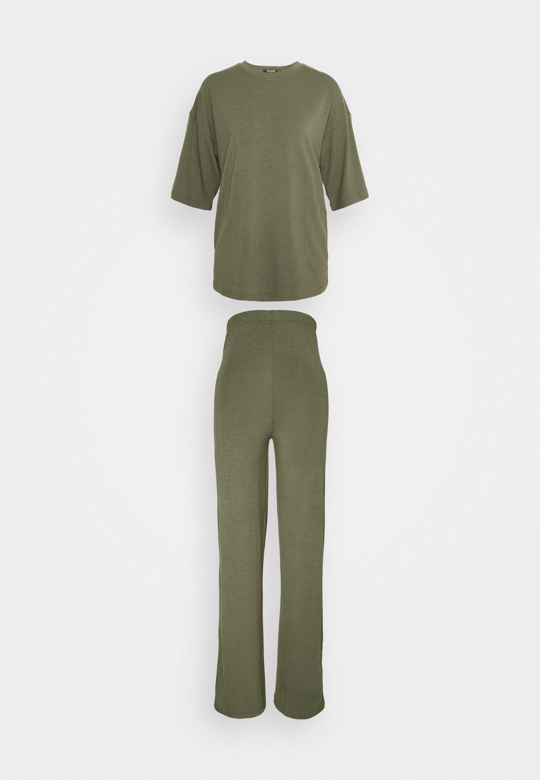 Damen WIDE LEG TROUSER SET - T-Shirt basic