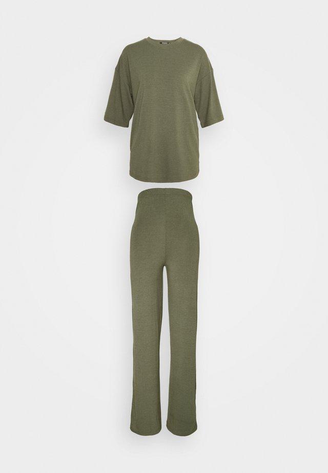 WIDE LEG TROUSER SET - T-shirt - bas - khaki