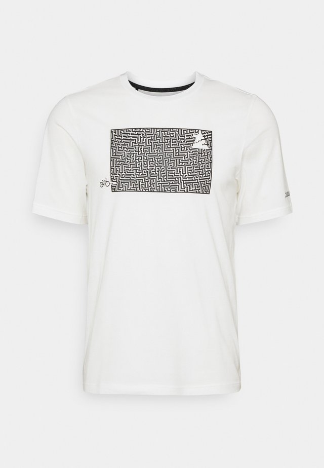 SHININGZ TEE MENS - T-shirts med print - white
