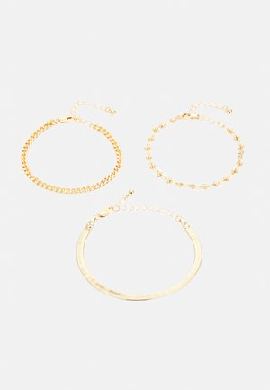 PCNAISE BRACELET 3 PACK - Armbånd - gold-coloured