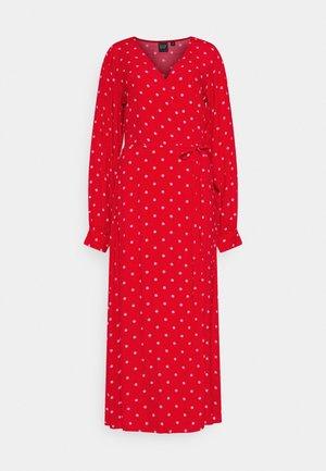 WRAP DRESS - Day dress - red
