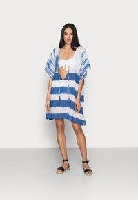 ONLY - ONLLONNY BEACH TUNIC - Beach accessory - cloud dancer/blue - 1