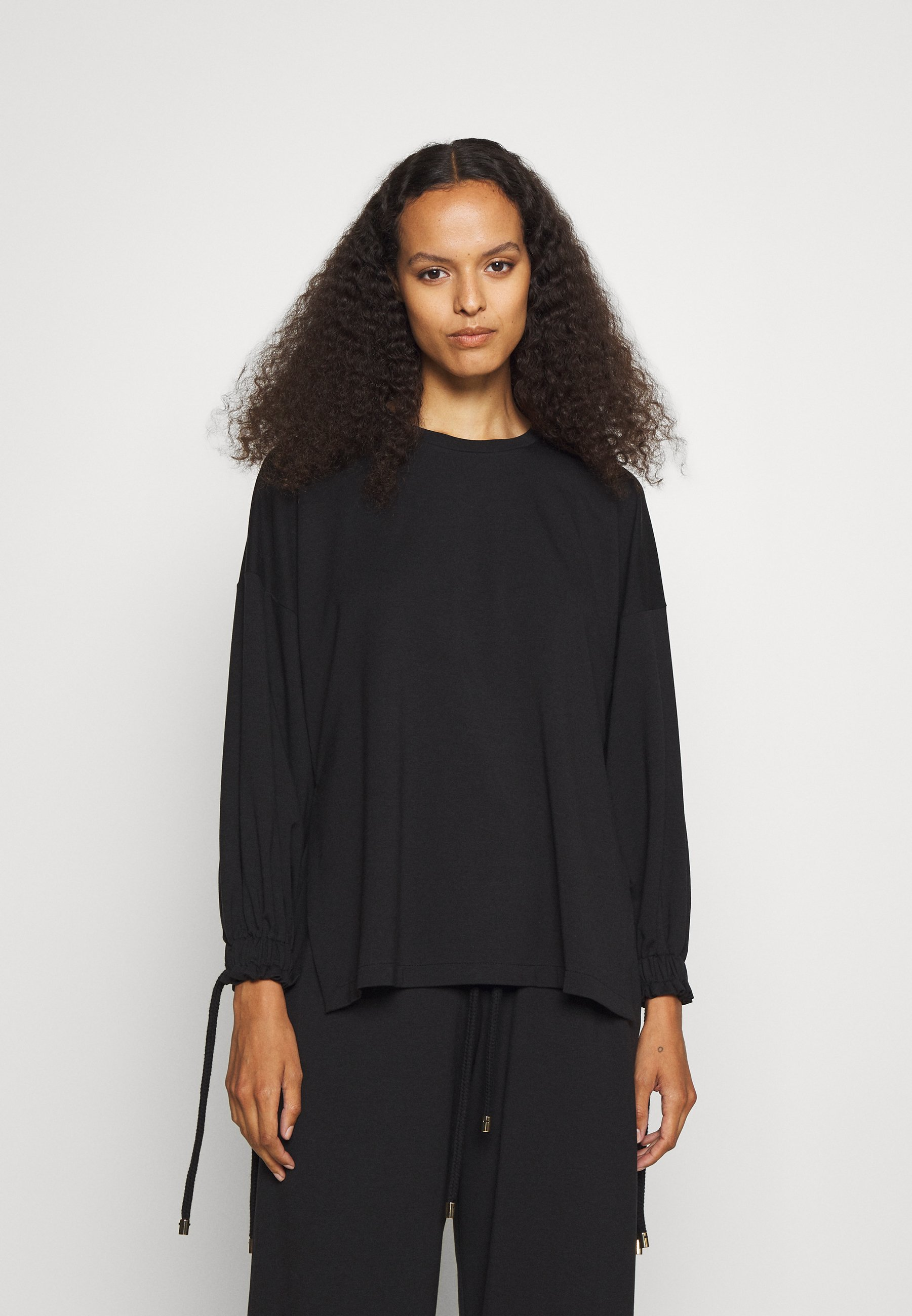 Women WITH ROPE TIE CUFFS - Long sleeved top