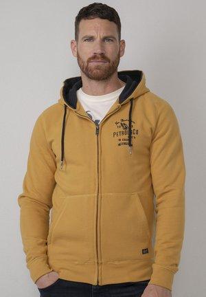 Zip-up sweatshirt - antique yellow