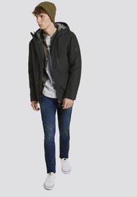 TOM TAILOR DENIM - MIT KAPUZE - Light jacket - black - 0