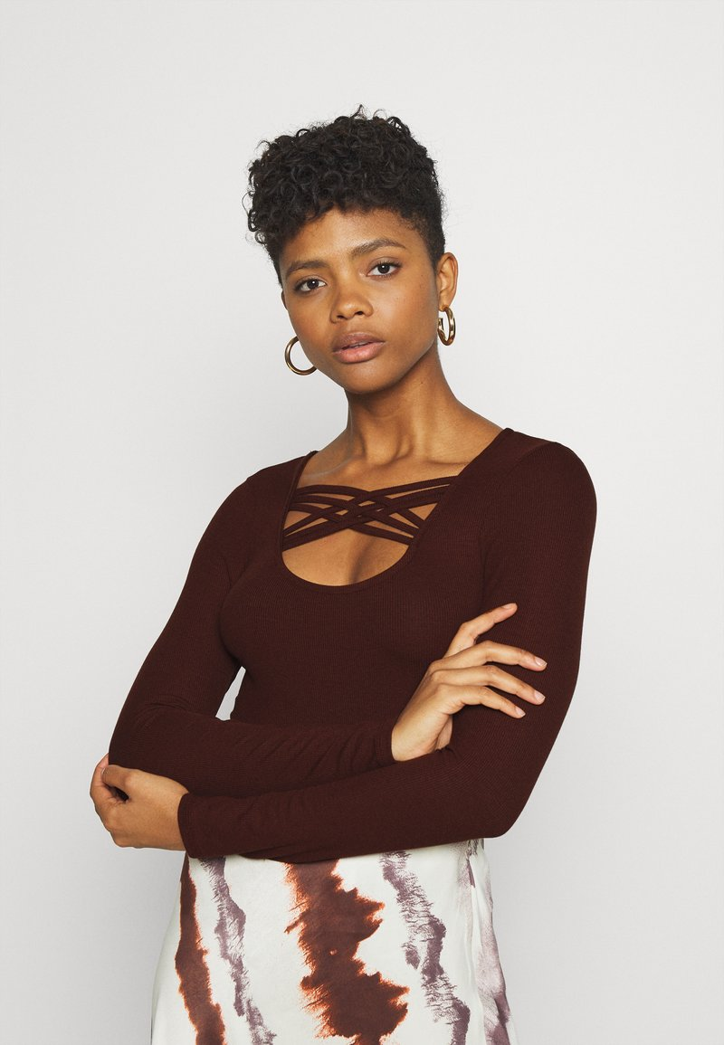 ONLY - ONLMARY - Long sleeved top - bitter chocolate