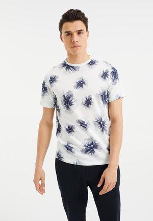 T-shirt med print - off white