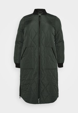 CARCARROT LONG QUILTED JACKET - Frakker / klassisk frakker - forest night
