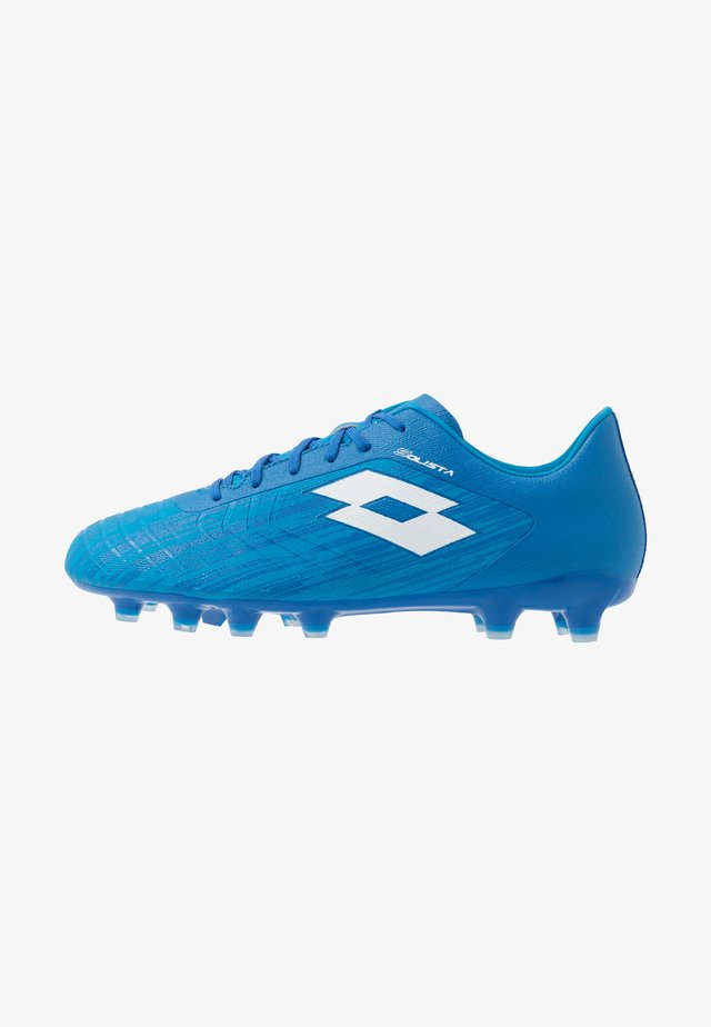 SOLISTA 700 III FG - Moulded stud football boots - diva blue/all white/skydiver blue