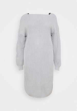 LACE TRIM JUMPER DRESS - Jumper - light grey