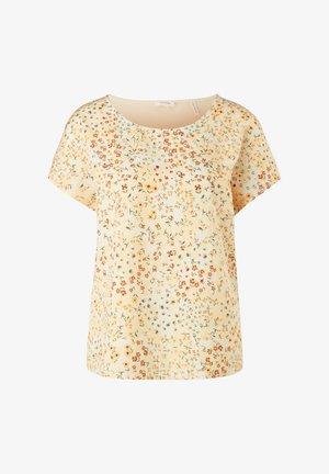 Print T-shirt - yellow aop