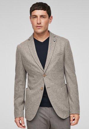 Blazer jacket - light brown melange