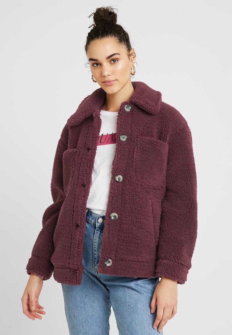 Topshop - READING - Winter jacket - burgundy