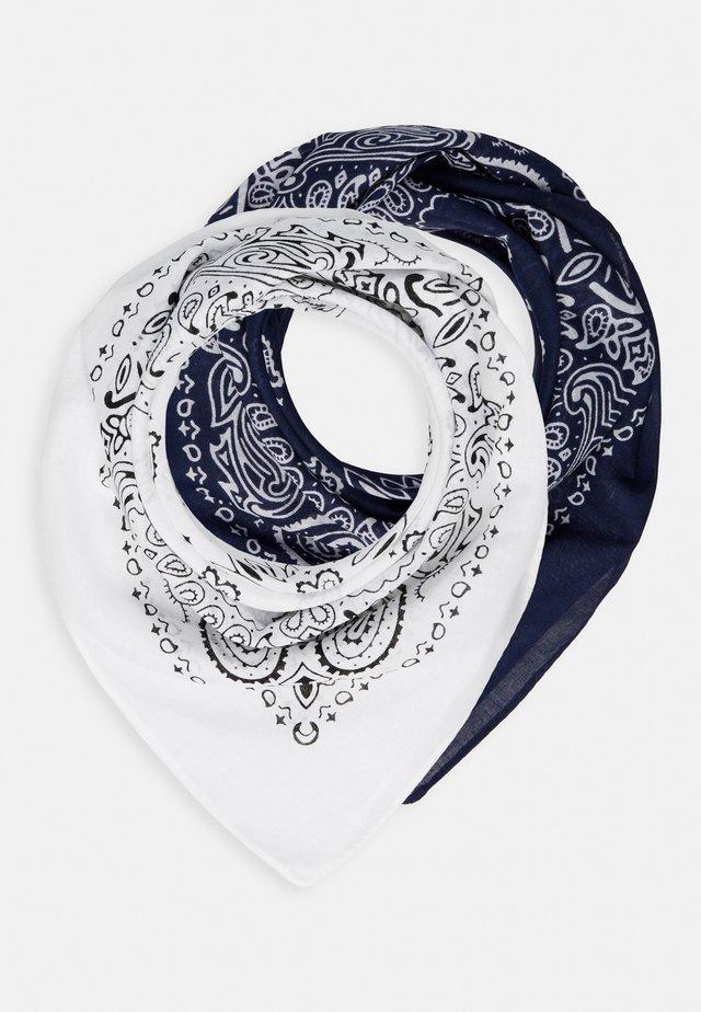 2 PACK BANDANA - Šátek - navy/white