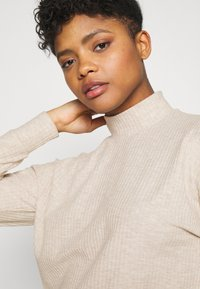 ONLY - ONLNELLA PULLSTRING CREWNECK - Long sleeved top - pumice stone - 3
