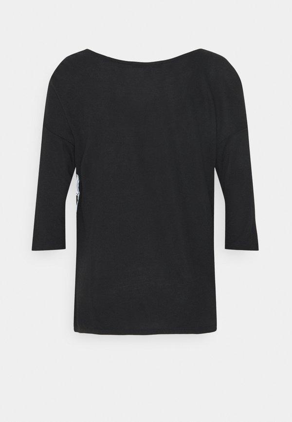 Esprit Collection FABRIC MIX - Bluzka - black/czarny VYFI