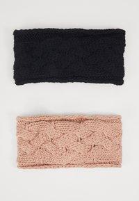Even&Odd - 2 PACK - Ear warmers - rose/black - 1