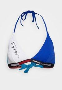 FIXED TRIANGLE - Bikini top - azure