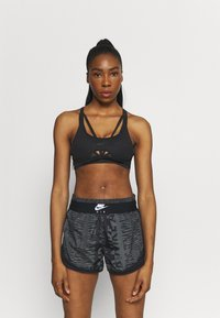 Nike Performance - INDY ULTRABREATHE BRA - Light support sports bra - black/dark smoke grey - 0
