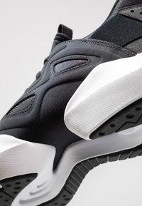 Reebok - SOLE FURY ADAPT - Neutral running shoes - black/white/metallic silver - 5