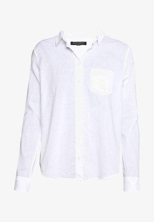 QUINN - Button-down blouse - white