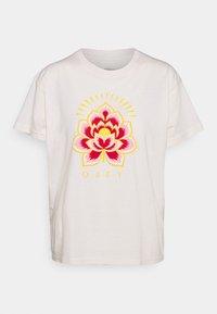 RADIANT LOTUS - Print T-shirt - cream