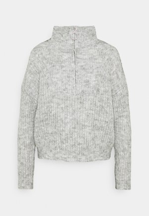 ONLEMILY LIFE ZIP - Strikpullover /Striktrøjer - light grey melange