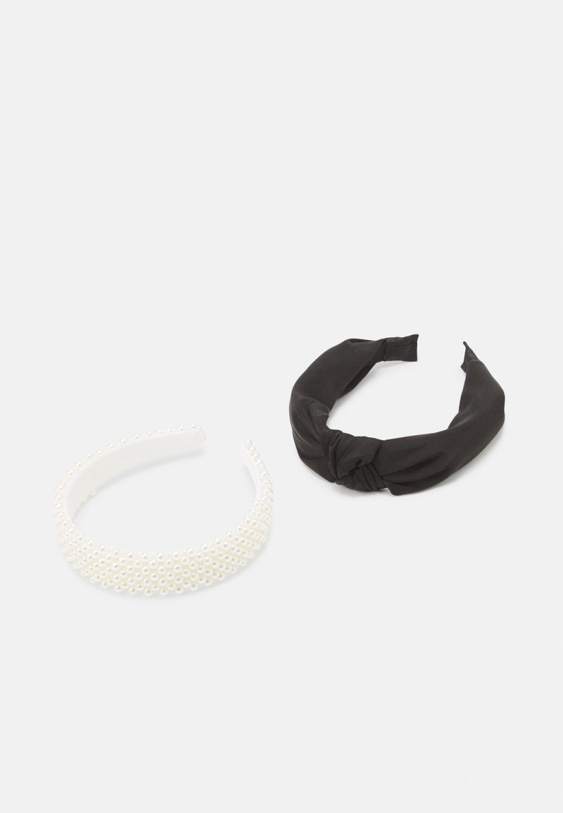 Lindex - ALICEBAND KNOT 2 PACK - Hair styling accessory - black