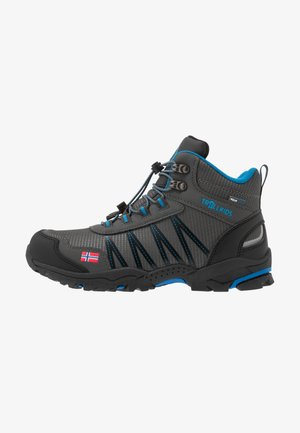KIDS TROLLTUNGA MID UNISEX - Hikingschuh - anthracite/medium blue