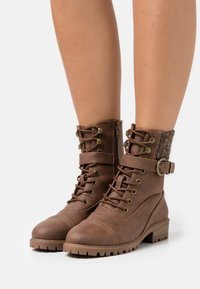 Head over Heels by Dune - PRENNA - Lace-up ankle boots - tan - 5