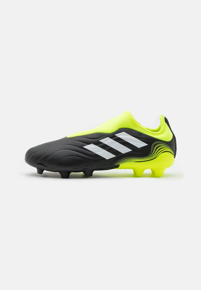 COPA SENSE.3 FG UNISEX - Moulded stud football boots - core black/footwear white/solar yellow