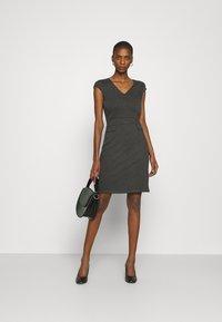 Anna Field - Žerzejové šaty - dark grey melange - 1