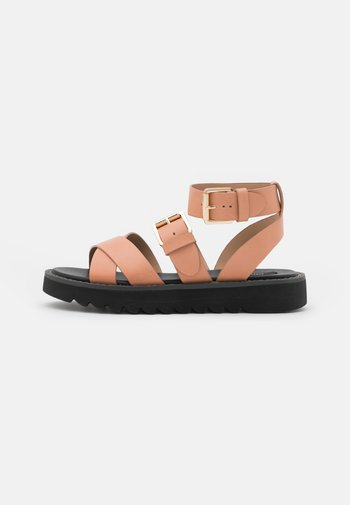 ONLMALU CHUNKY WRAP - Platform sandals - pink