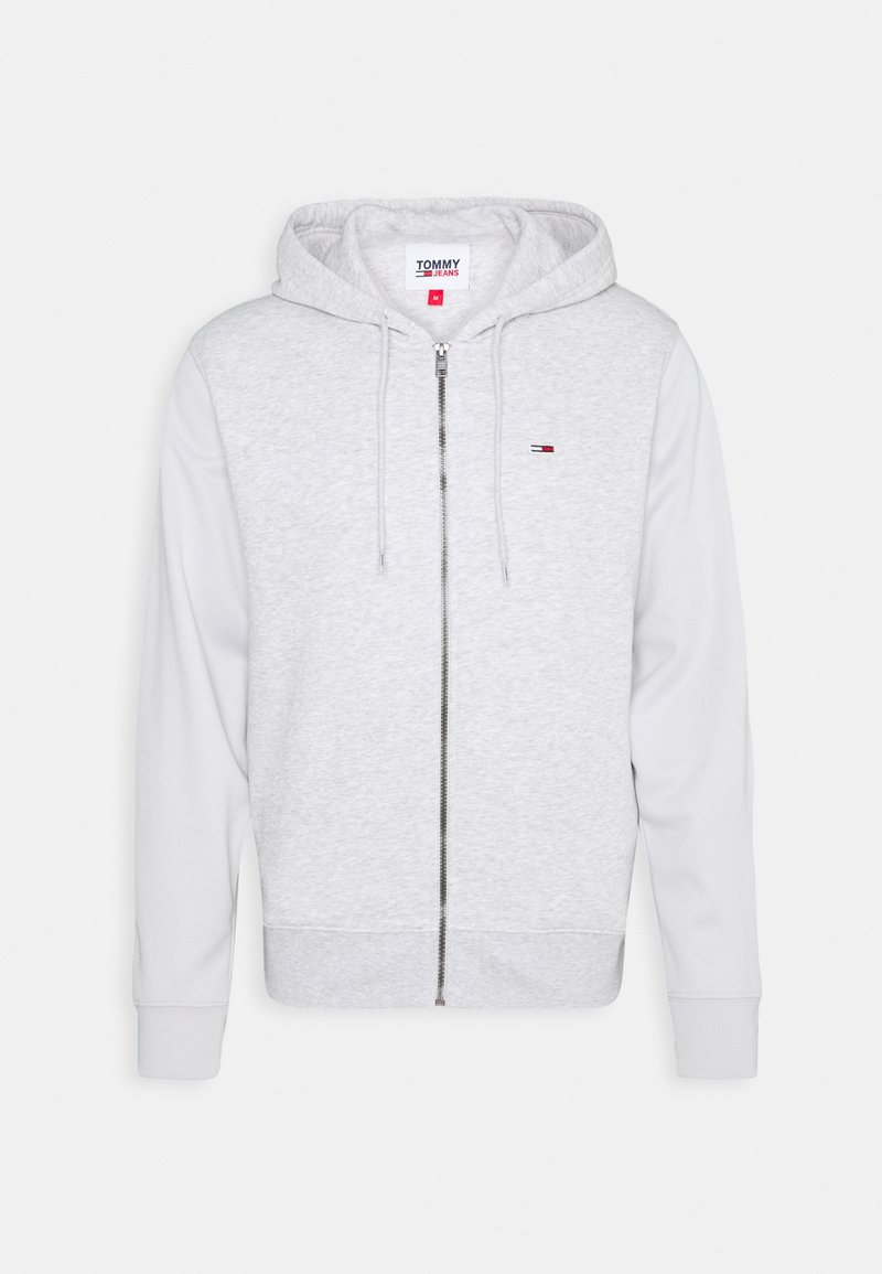 Tommy Jeans - BASKETBALL GRAPHIC  - Zip-up sweatshirt - silver grey heather