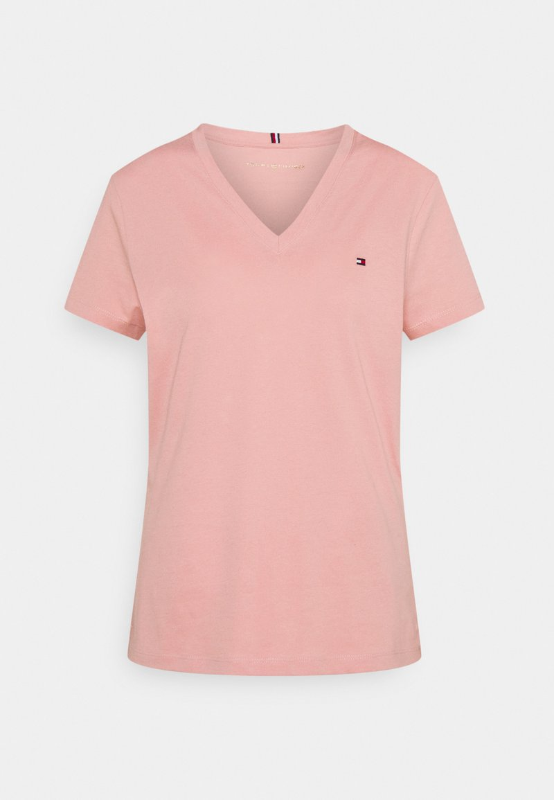 Tommy Hilfiger - NEW VNECK TEE - Basic T-shirt - soothing pink