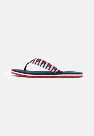 FLAG BEACH - T-bar sandals - twilight navy