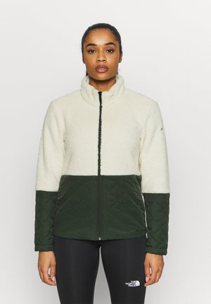 WOMENS MANUKAU JACKET - Fleecová bunda - ecru