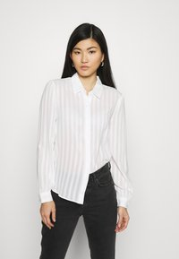 Anna Field - Semi sheer blouse - Camisa - white - 0
