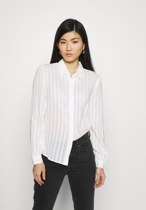 Semi sheer blouse - Camisa - white
