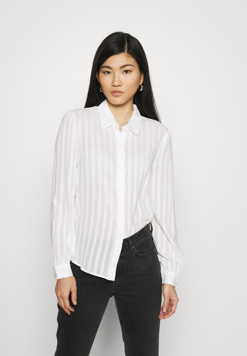 Anna Field - Semi sheer blouse - Camisa - white