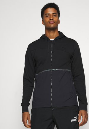 TRAIN EXCITE FULL ZIP JACKET - Training jacket - black