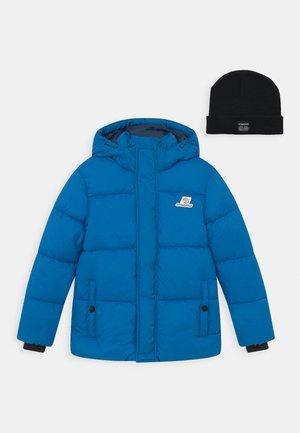 TIAN SET - Winter jacket - ibiza blue/deep black