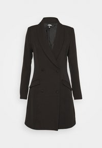 Missguided - BUTTON SIDE BLAZER DRESS - Shift dress - black - 4