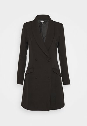BUTTON SIDE BLAZER DRESS - Robe fourreau - black