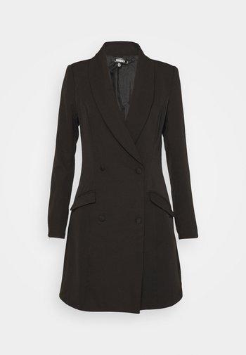 BUTTON SIDE BLAZER DRESS - Shift dress - black